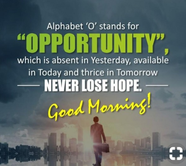 Alphabet O Stands For Opportunity