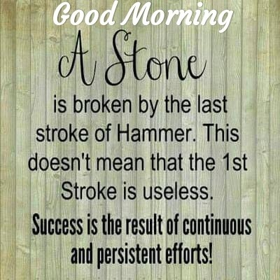 Picture: A Stone Is Broken By The Last Stroke