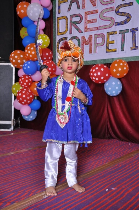 Cute Boy In Fancy Dress Competition