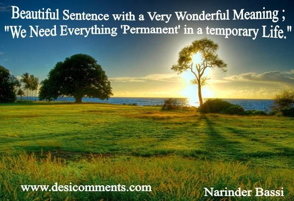 Picture: Beautiful Sentence With A Wonderful Meaning