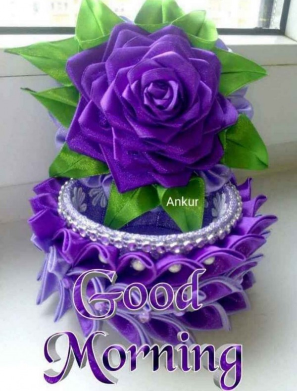 Picture: Good Morning With Purple Flower