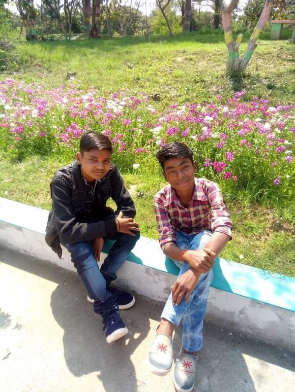 Rohit With His Friend