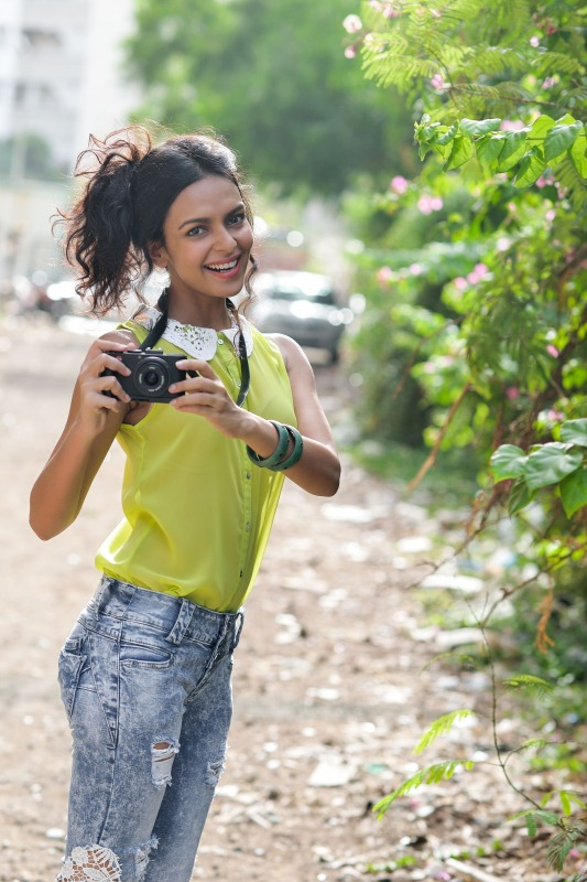 Image Of Bidita Bag In Blue Jeans