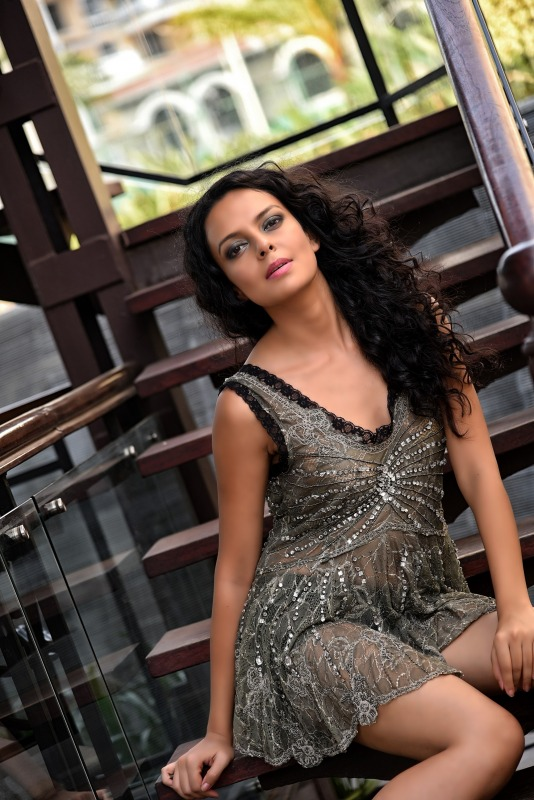 Picture: Bidita Bag In Sexy Short Dress