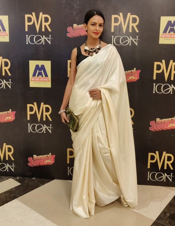 Picture Of Bidita Bag In White Saree