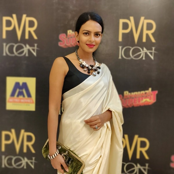 Picture: Bidita Bag In White Saree