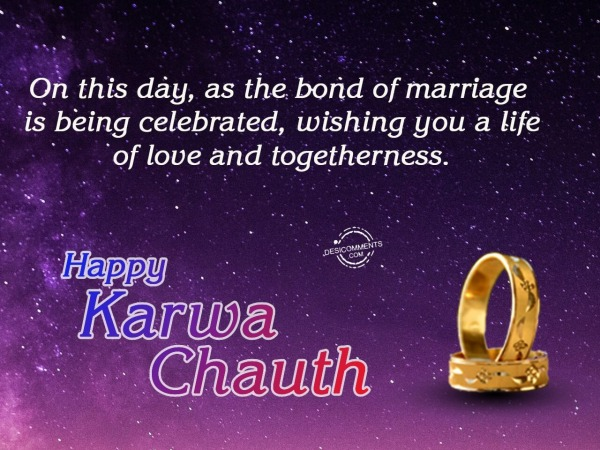 Bond of marriage is celebrated, Happy Karwa Chauth