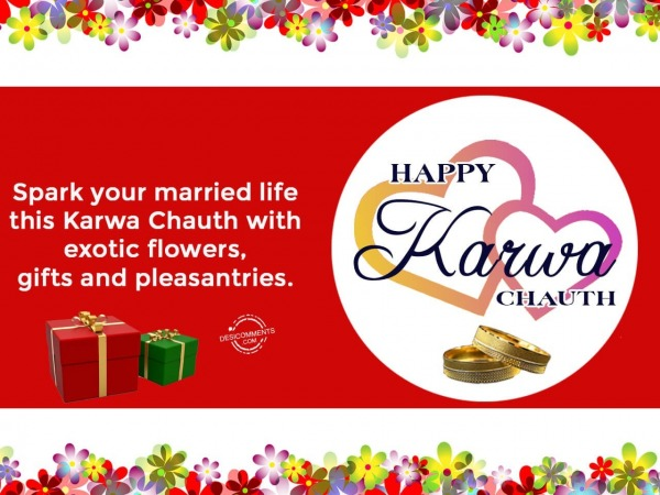 Spark your married life, Happy Karwa Chauth