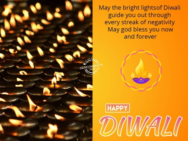Picture: May god bless you now and forever, Happy Diwali