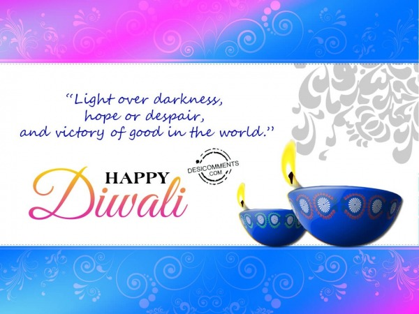 Victory of good in the world, Happy Diwali
