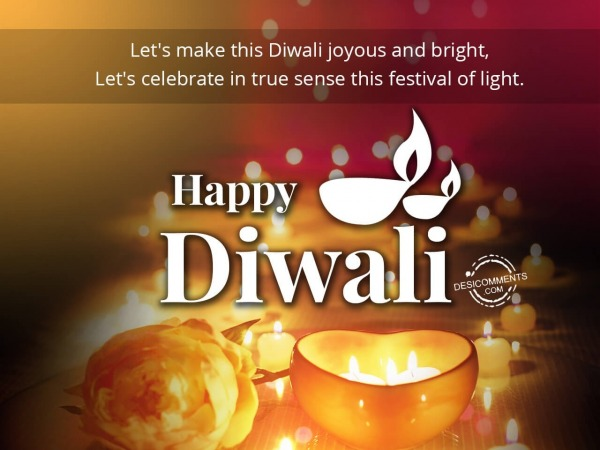 Let's make this Diwali joyous and bright