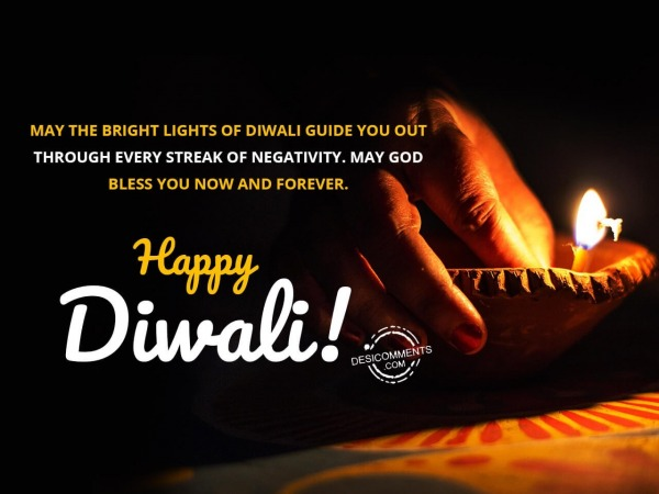 May the bright lights of Diwali guide you