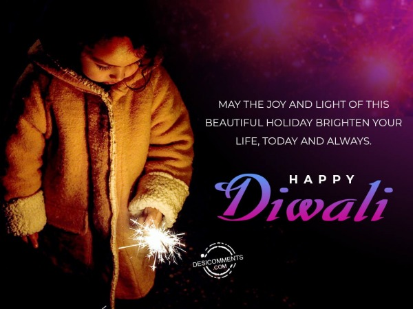 May the joy and light of Diwali brighten your life