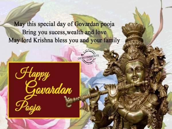 May lord Krishna bless you and your family, Happy Govardan Pooja