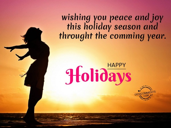 Picture: Wishing you peace and joy this holiday season, Happy holidays