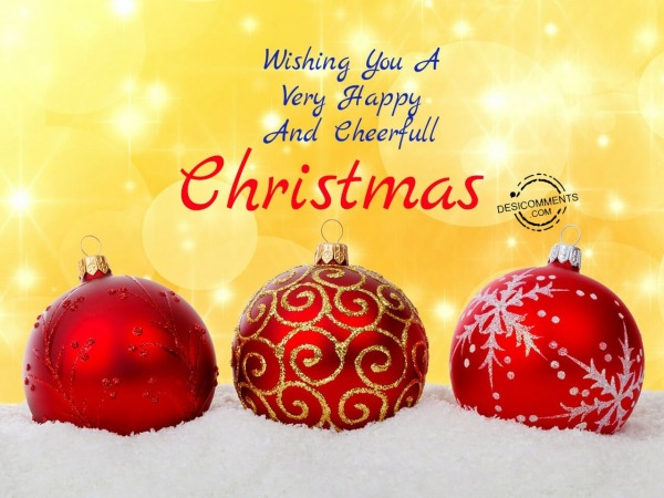 Wishing you a happy and cheerfull christmas