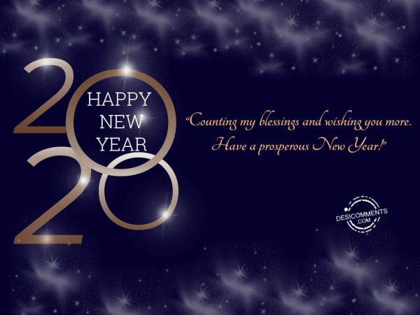 Picture: Counting my blessings and wishing you more, Happy New Year