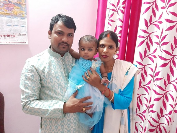 Beautiful Family With Baby Is Ansu Dev