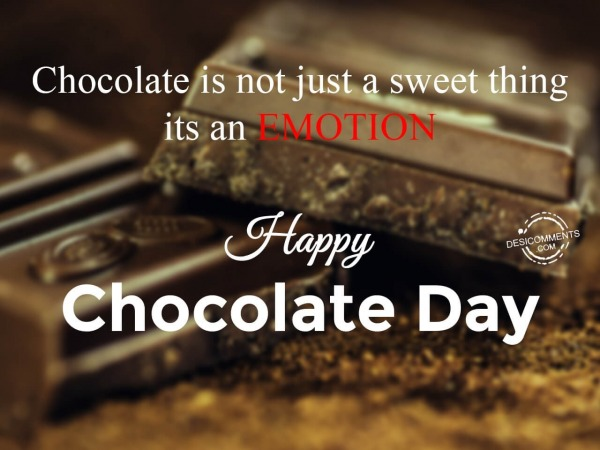 Picture: Chocolate is not just a sweet thing its an emotion