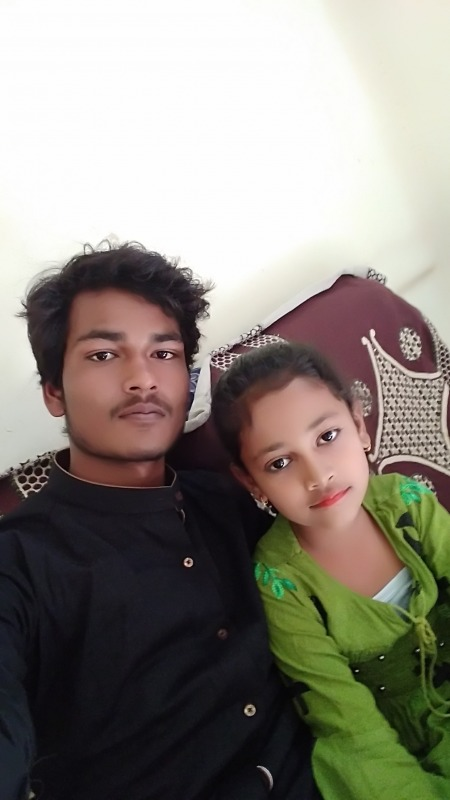 Picture Of Sebu Ali With His Sister
