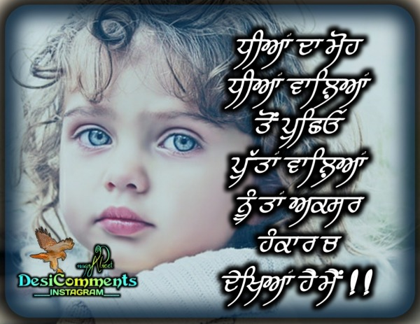 Picture: Quote Of Punjabi…Dhiyaan