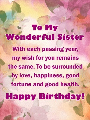 Picture: Image Of Happy Birthday Sister