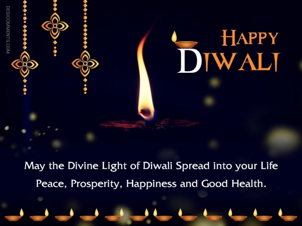 May The Divine Light Of Diwali Spread Into Your Life