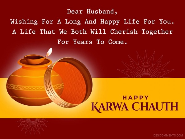 Dear Husband Wishing For A Long And Happy Life