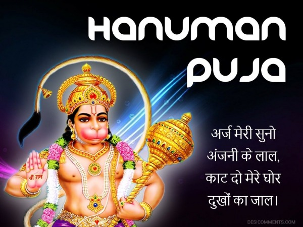 Image of the Hanuman Puja