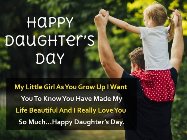 Image Of Happy Daughter's Day