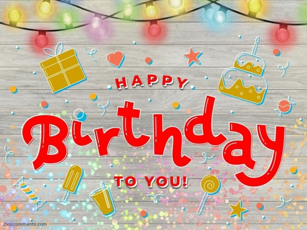 Happy Birthday With Gift Image