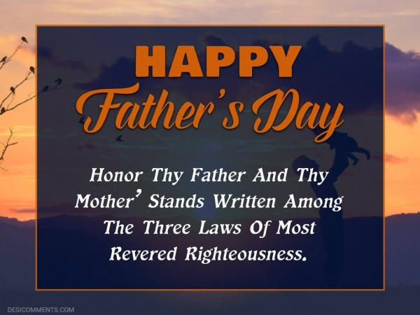 Honor Thy Father And Thy Mother