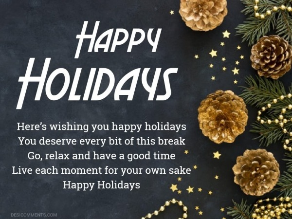 Here's Wishing You Happy Holidays
