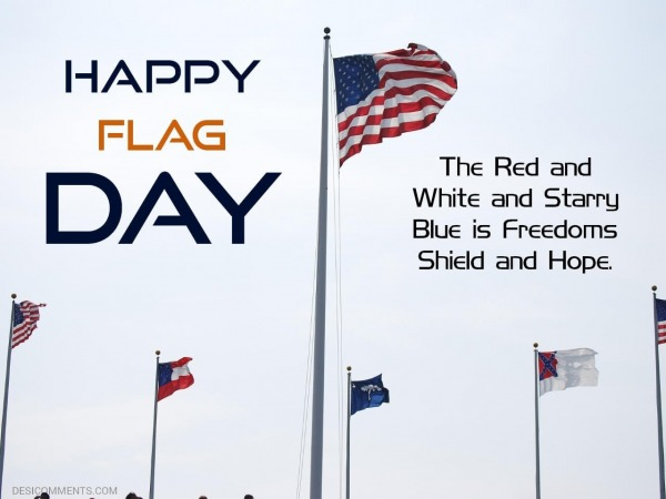 The Red and White and Starry Blue is Freedom's Shield and Hope