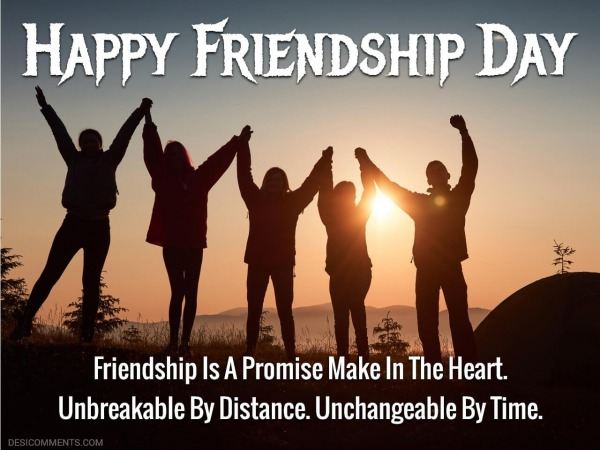 Friendship Is A Promise Make In The Heart