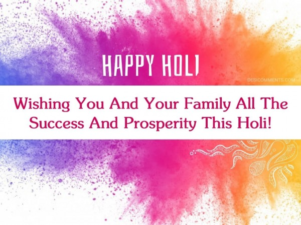 Wishing You And Your Family All The Success