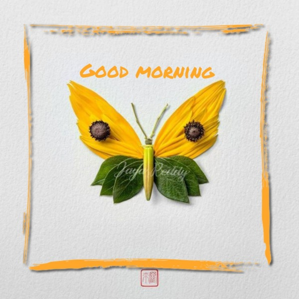 Good Morning Yellow Butterfly