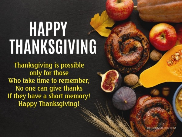 Thanksgiving Is Possible Only For Those