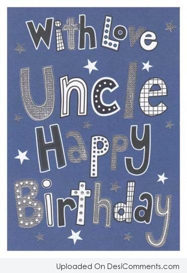 Picture: With Love Uncle Happy Birthday