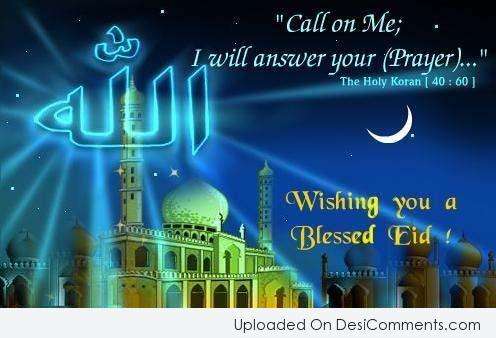 Picture: Wishing You A Blessed Eid