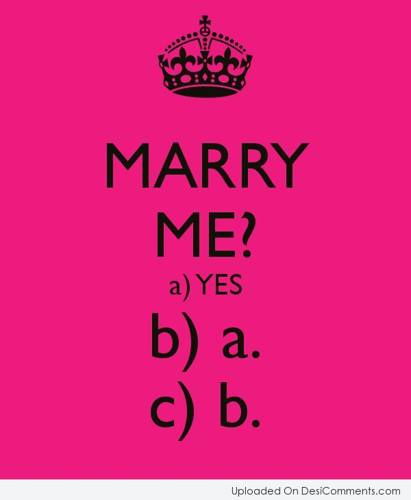 Picture: Marry Me ?