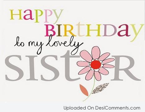 Happy Birthday To My Lovely Sister