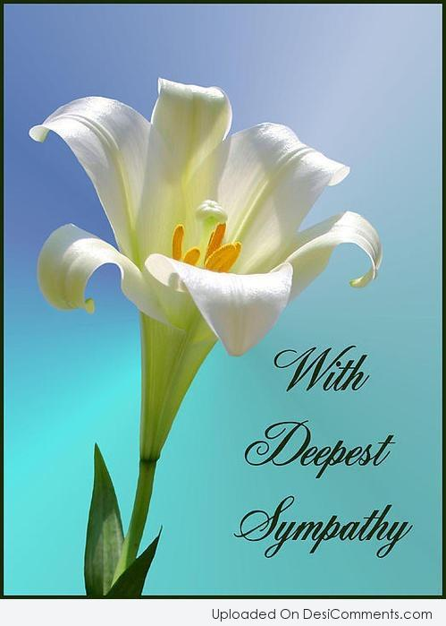 Picture: With Deepest Sympathy