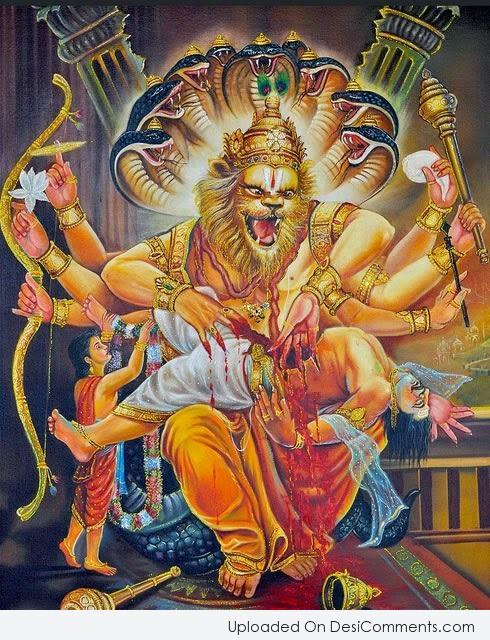 Narsimha Jayanti : IMAGES, GIF, ANIMATED GIF, WALLPAPER, STICKER FOR WHATSAPP & FACEBOOK