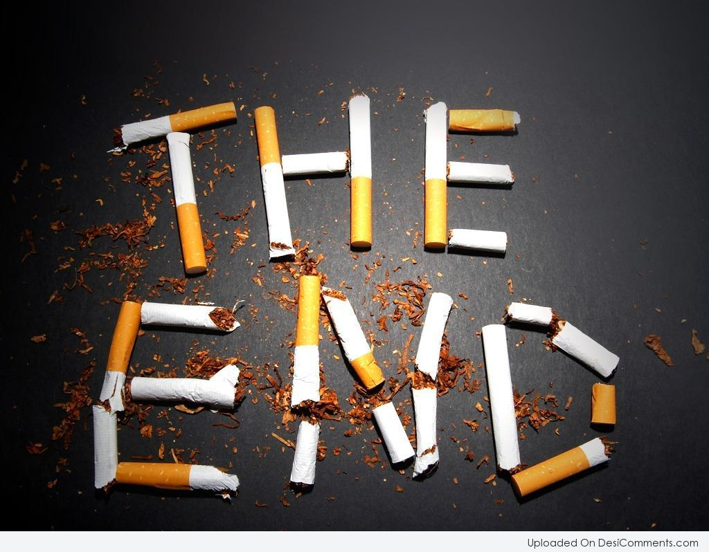 Picture the end smoking