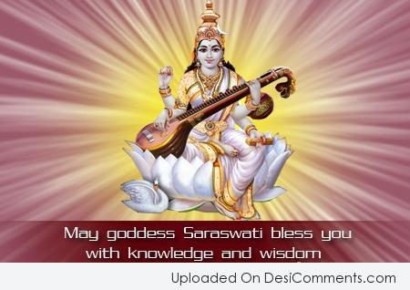 Picture: May Goddess Saraswati Bless You