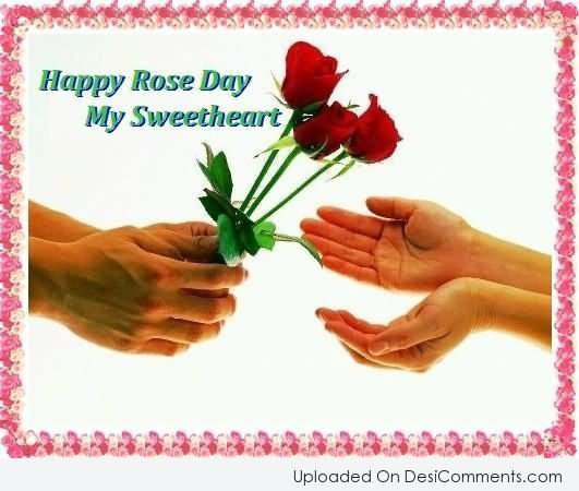 Picture: Happy Rose Day My Sweetheart