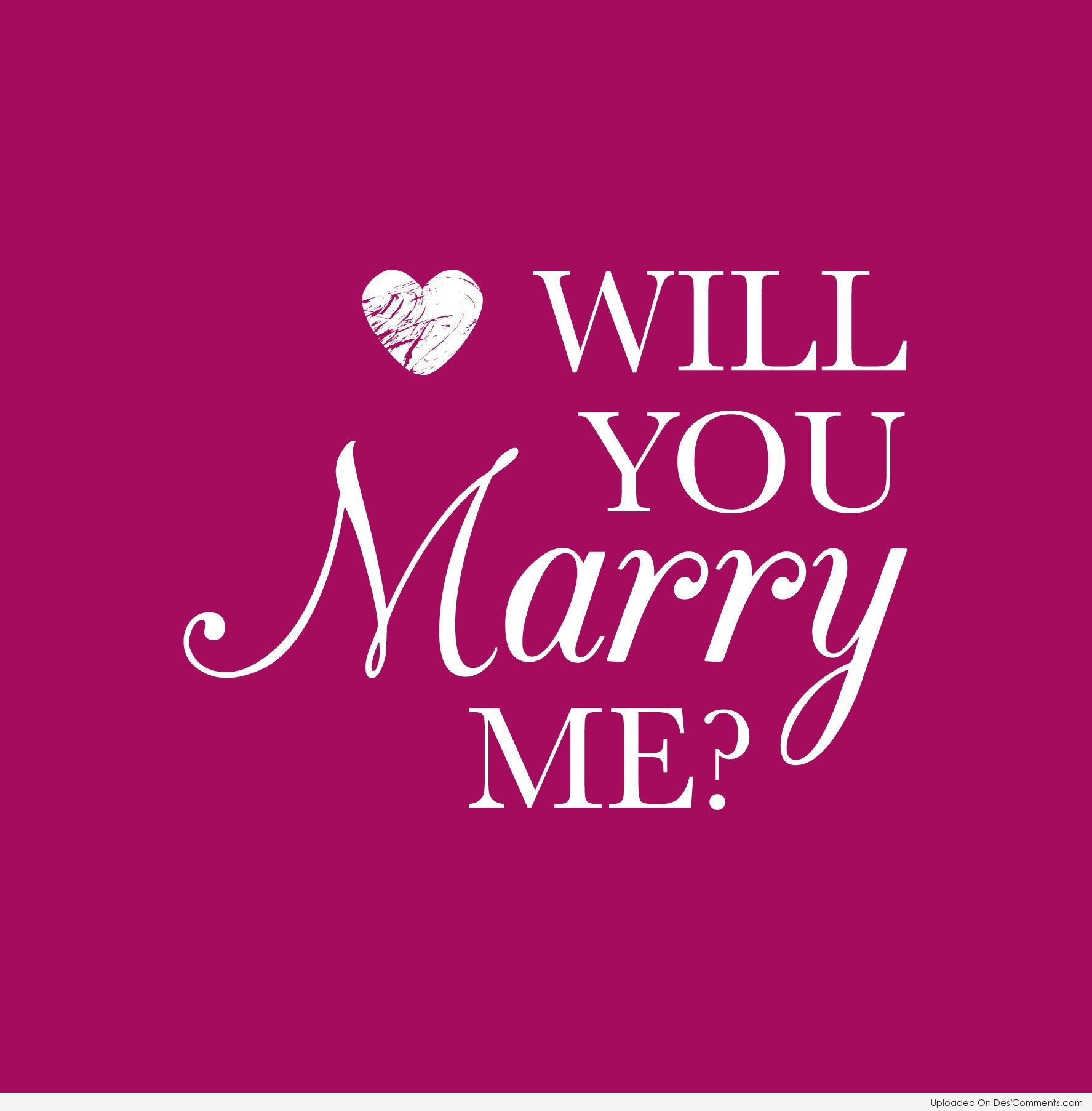 Will you marry me - DesiComments.com