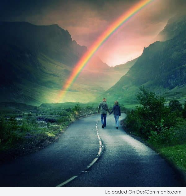 Colorful and Magical Rainbow