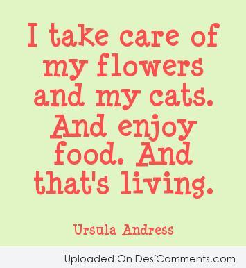 Picture: I Take Care Of My Flowers